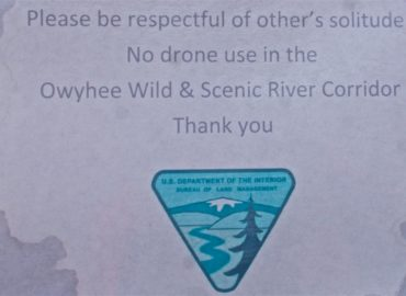 Owyhee River Drone Sign